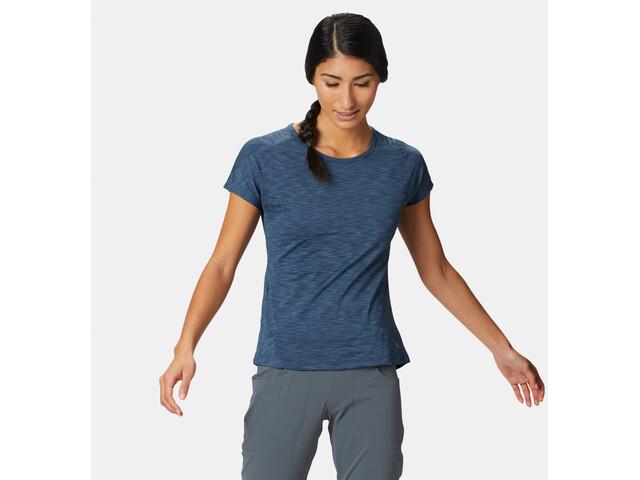 Mountain Hardwear Mighty Stripe Maglietta a maniche corte Donna, blu